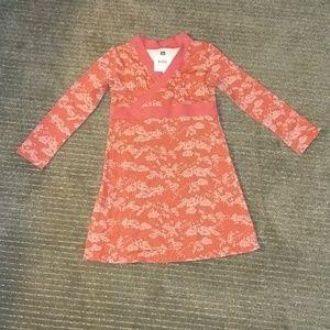 Girls tea bisuta faux wrap dress red size 4